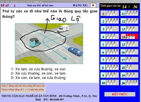 mẹo lý thuyết lái xe a1