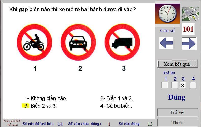mẹo đánh trắc nghiệm thi bằng lái a1