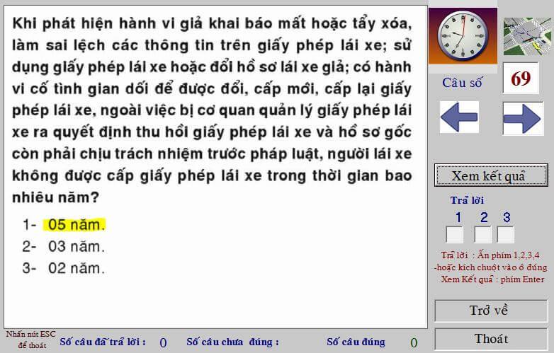 meo thi bang lai a1 2016
