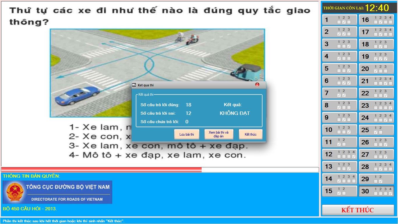Học lý thuyết lái xe ô tô trực tuyến