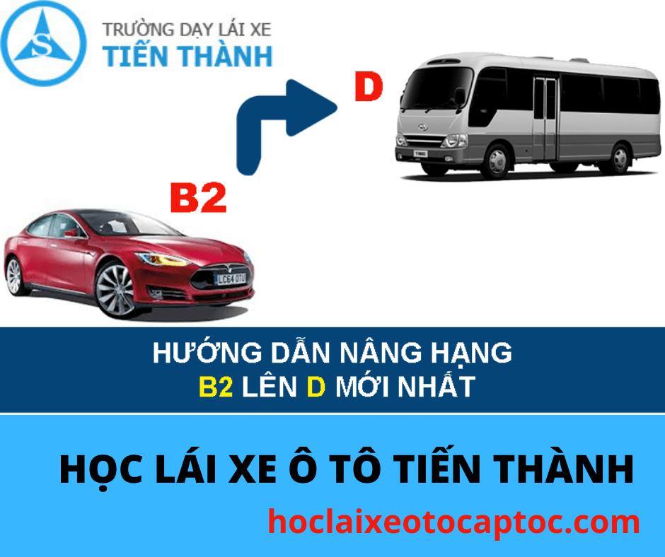 nâng hạng giấy phép lái xe B2 lên D