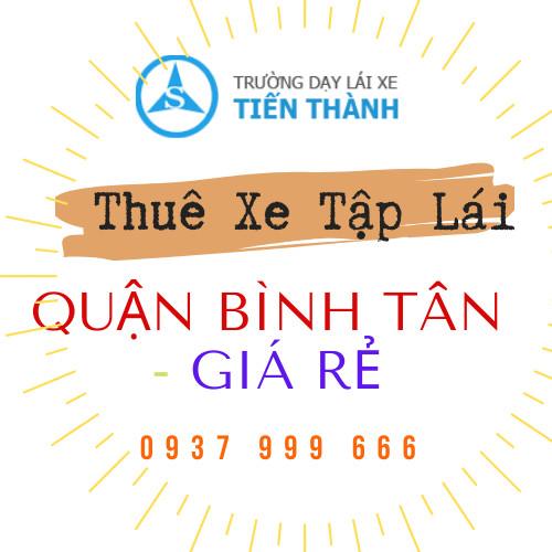 thuê xe tập lái quận Bình Tân