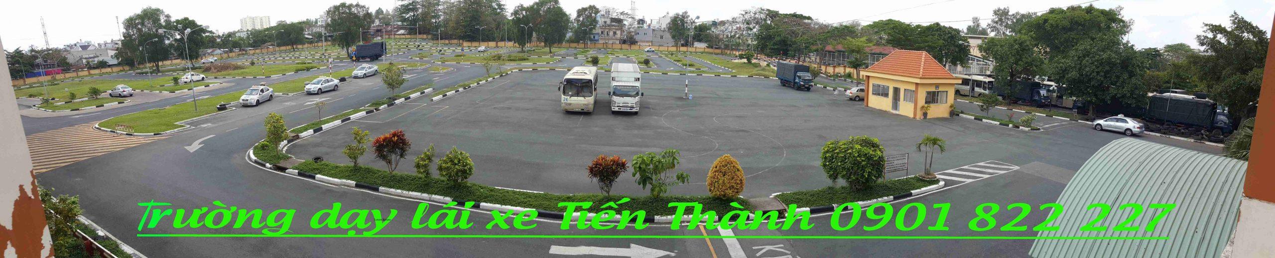 Bãi sa hình phục vụ thuê xe tập lái Bình Chánh tại Tiến Thành